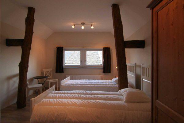 Slaapkamer vakantiehuisje